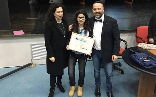 Premiazione studentessa Mossa