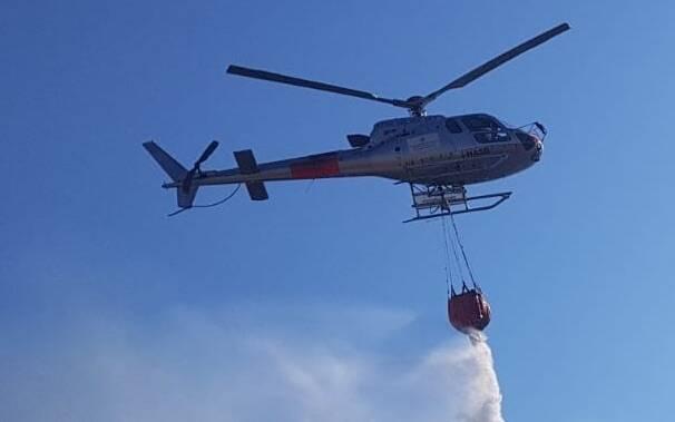 Elicottero incendi forestale
