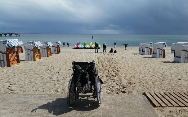 sedia rotelle spiaggia