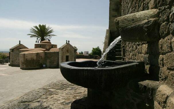 fontana bonarcado prima dell'atto vandalico