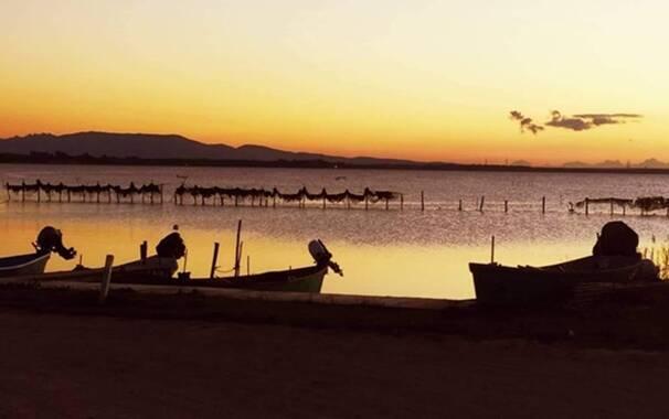 Santa Giusta - stagno tramonto EVIDENZA