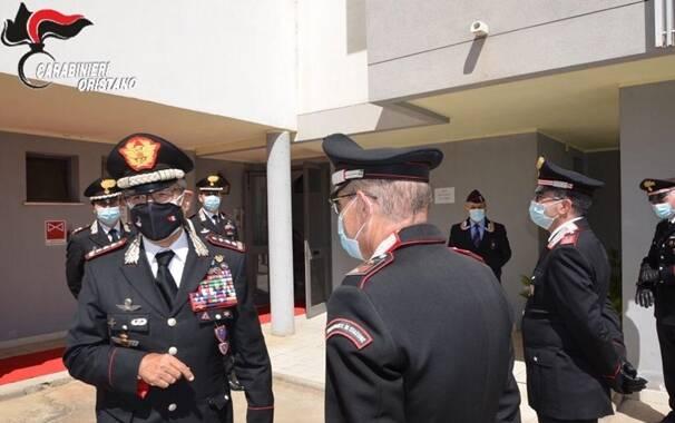 carabinieri - visita comandante Oristano