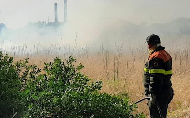 Incendio Oristano ex zuccherificio