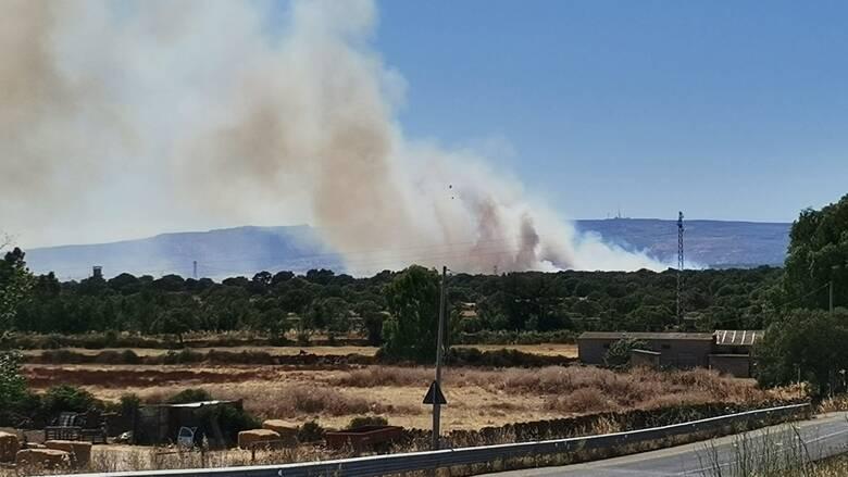 Abbasanta - incendio sant'agostino - fumo