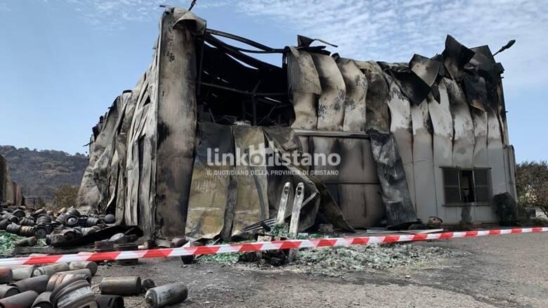 Cuglieri - capannone distrutto incendio - Vanna
