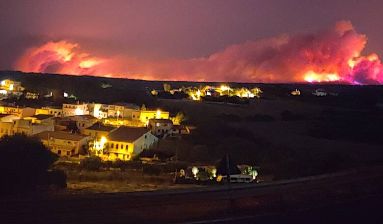 Incendio Cuglieri - Santa Caterina