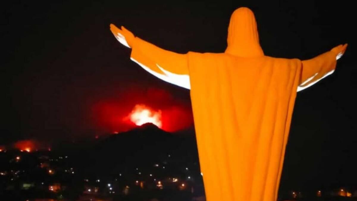 Santu Lussurgiu - vista dal redentore - incendio