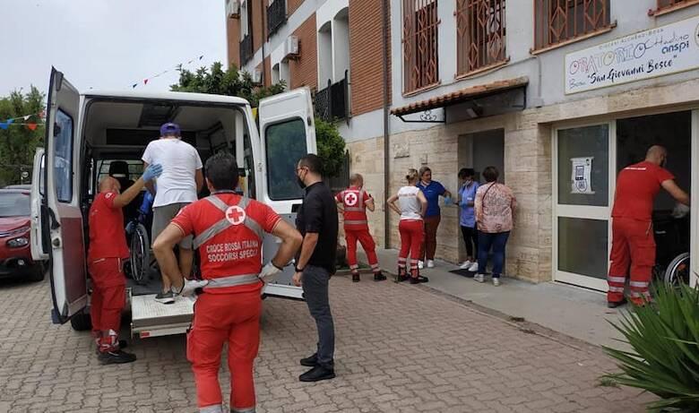 Bosa anziani seminario incendio emergenza croce rossa