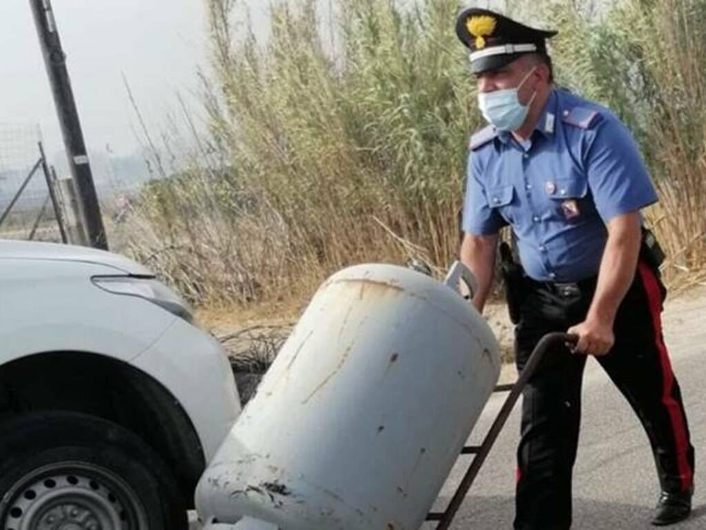 Incendio Montiferru - Planargia - impegno carabinieri