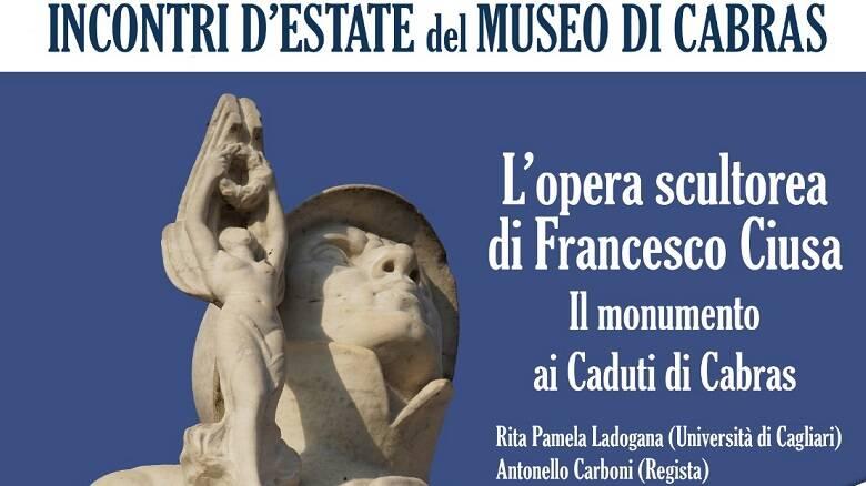 """La locandina del terzo appuntamento di """"Incontri d'estate al Museo"""""""