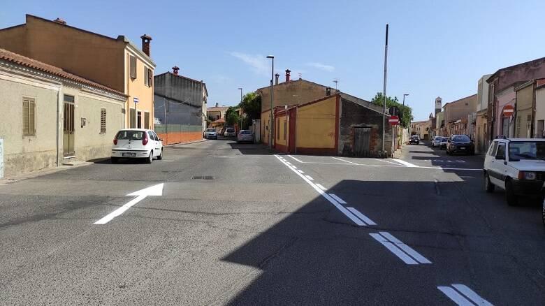 La viabilità tra via Tuveri e via Genova