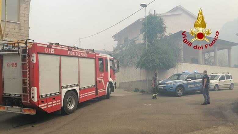 Scano di Montiferro - Incendio 25 luglio - vigili del fuoco