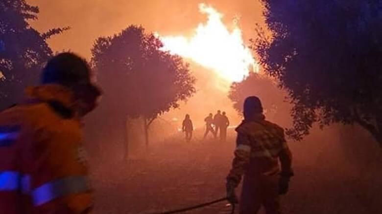 Scano di Montiferro - incendio - vigili del fuoco