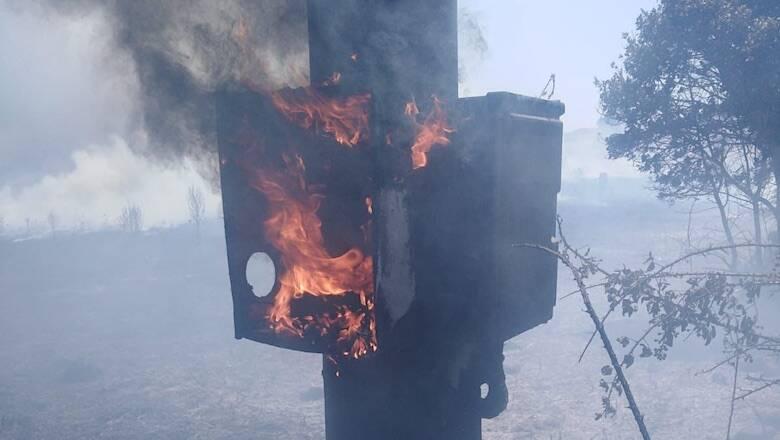 Santu Lussurgiu Palo a fuoco