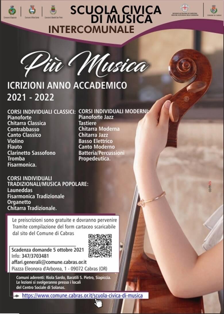 Cabras - scuola civica di Musica - locandina scmi 2021 2022-1