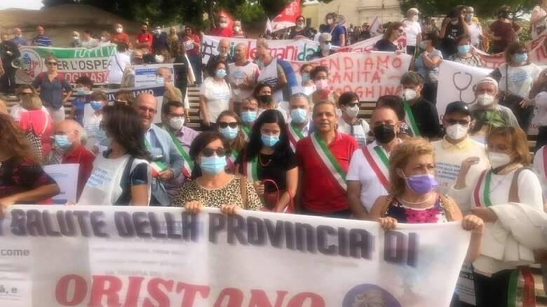 Cagliari - manifestazione per la sanità - 24 settembre - Foto comune Solarussa