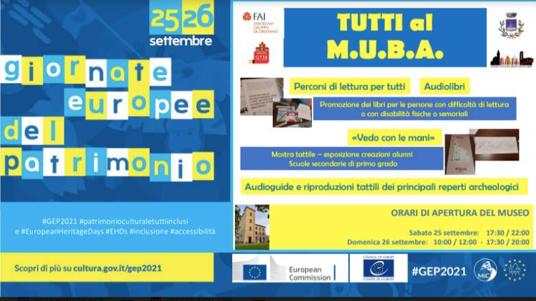 giornate europee del patrimonio 2021 arborea tutti al muba