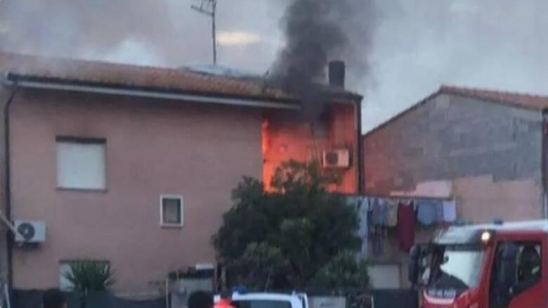 Pabillonis - incendio casa