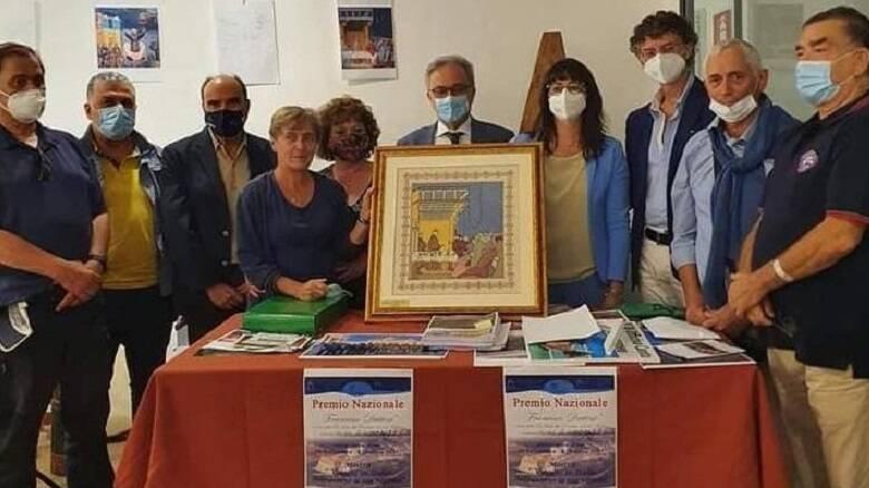 La consegna del premio Dattini alla Pro loco di Terralba