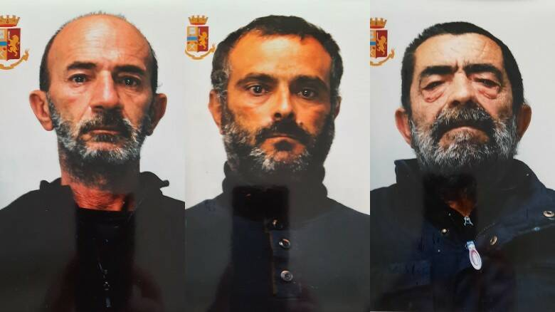 Da sinistra Giovanni Maria Giobbo, Francesco Goddi e Nino Vacca