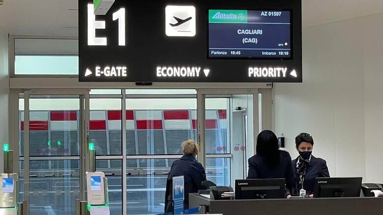 Ultimo volo Alitalia - Cagliari